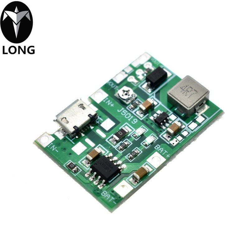 Spedizione Gratuita litio Li-Ion 18650 3.7V 4.2V Battery Charger Consiglio DC-DC Step Up modulo Boost TP4056 kit fai da te Parts
