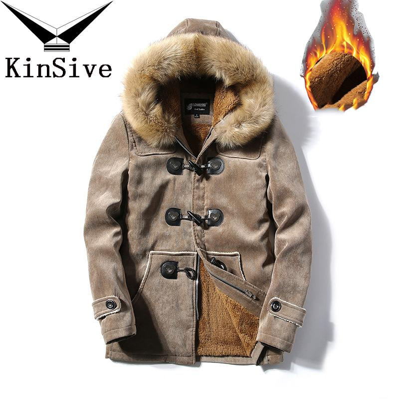 2019 Parka Men Coats 2019 Winter Jacket Men Slim Thicken Fur Hooded
