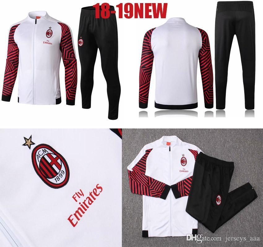 AAA+ AC Milan 18 19 Soccer Tracksuit 2018 2019 Football Training ... 0a5429756017c