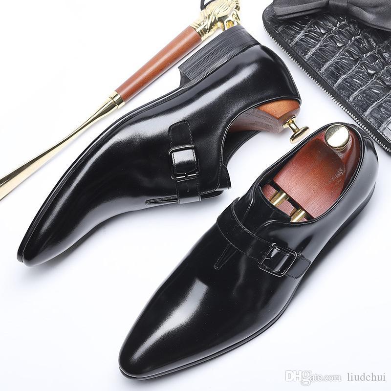 e6162f03 Compre 2019 Nueva Moda De Cuero De Los Hombres De La Hebilla De ...