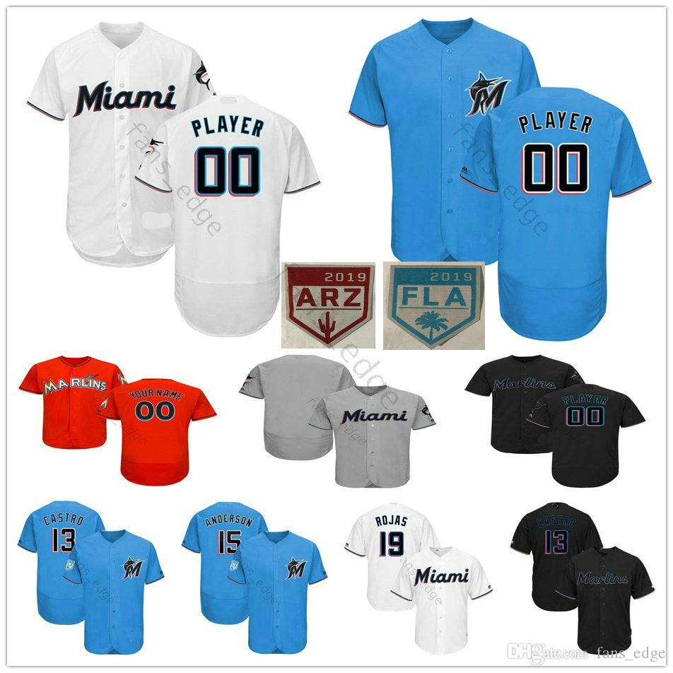 8ccf902a460 2019 Custom Miami  14 Martin Prado 19 Miguel Rojas 18 Neil Walker Nick  Anderson Men Women Kids Youth Marlins Baseball Jerseys From James shop