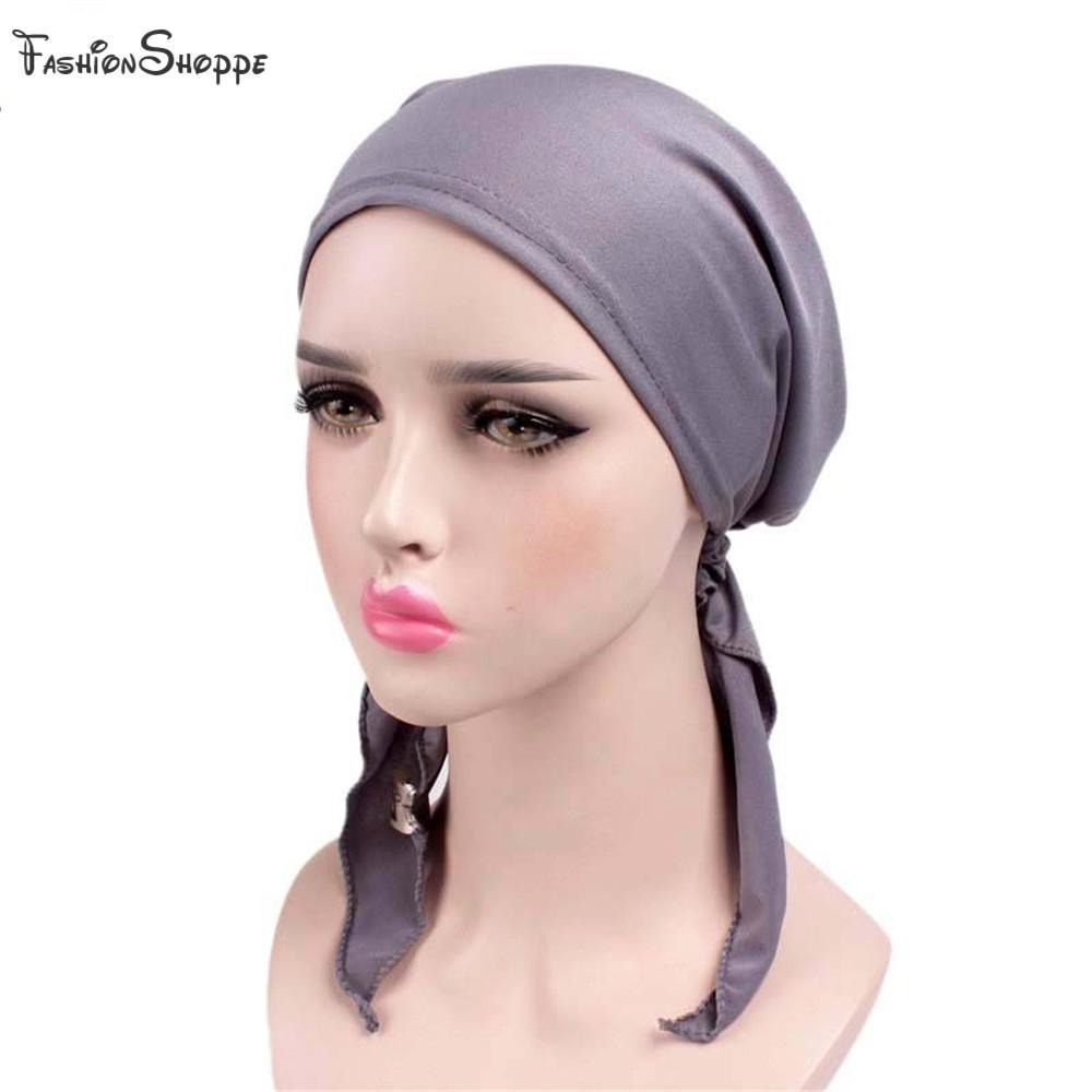 Compre Tela Elástica Gorra De India Pañuelo Sólido Pañuelo De Turbante  Sombrero De Musulmán Gorra Negra Sombrero De Capucha Sombrero De Cabeza  Abrigo Liso ... 9f1671e8284