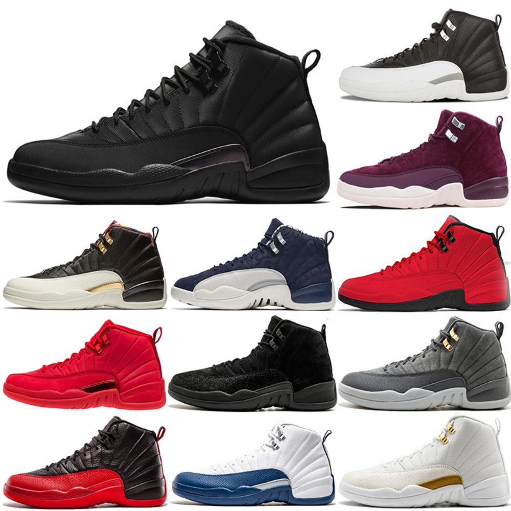 12s Winterized Wntr Mens Basketball Shoes Xii Gym Red Flu Game Bulls French Blue Playoffs Wool Michigan Bordeaux Sports Shoe Off Jumpman