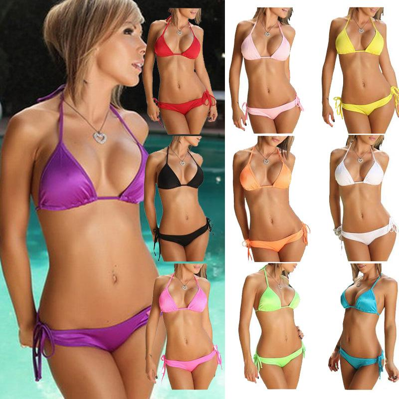 674f3eab6a3 2019 2016 Sexy Bikinis =Women Swimsuits Swimsuit Sexy Lady Triangle Bikini  Sexy Bandage Bikinis CHEAP Dm004 By DHL From Alipoo, $1.51 | DHgate.Com