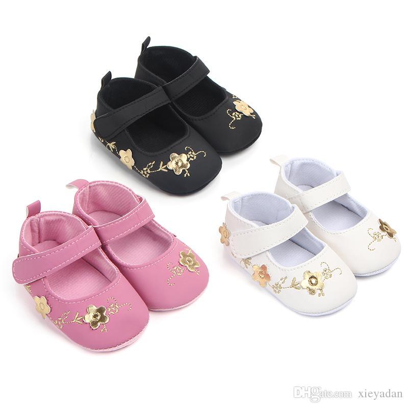 c058befa1e9215 Acheter 2019 Printemps Automne Pour Les Petites Filles Mignon Princesse  Chaussures Bébés Soirée En Cuir Artificiel Chaussures De Mode 0 18 M  Chaussures De ...