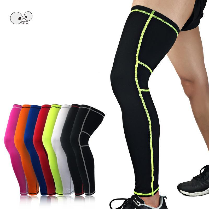 efb0d964ff Elastic Long Cycling Leg Warmers Protective Basketball Leg Sleeve Knee Pads  Football Shin Guard Gym Leggings Sports Safety Online with $38.71/Piece on  ...