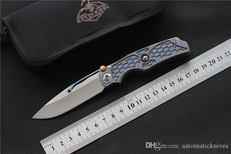 kevin johnTilock fold knife M390 blade Titanium knife outdoor hunt knives Survival gear self defence Tactical EDC tools camping pocket knife