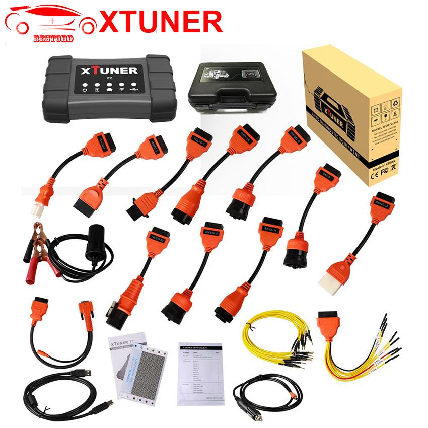 XTUNER T1 Trucks Diagnostic Tool for Diesel Heavy Duty WIFI / USB Connection Support DPF / DTC / VIN Function Work on Windows