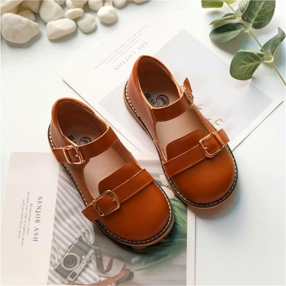 European Size 18-28 Baby Girl Genuine Leather Leather Shoes Girl Soft Bottom Party Dress Dance Shoes Kids Princess Wedding