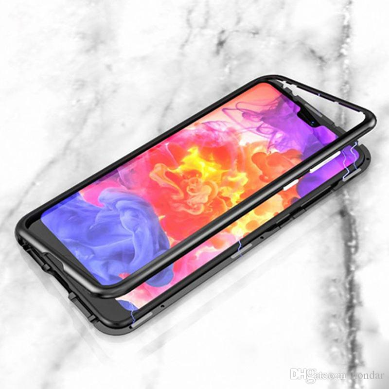 save off ea3c2 1aab3 Self Adsorption for One Plus magnetic HONOR 8X case Tempered Glass designer  phone case 360 Protection Back Panel magnetic case
