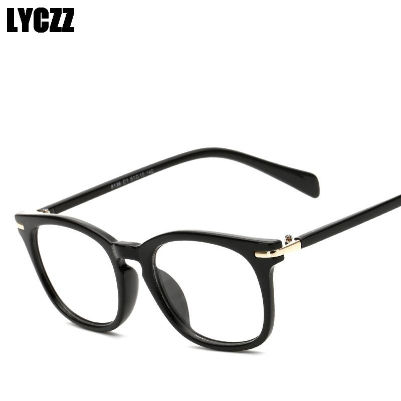 fc9fe0d95756 LYCZZ Myopia Prescription Glasses Optic Frame Vintage Print Round ...