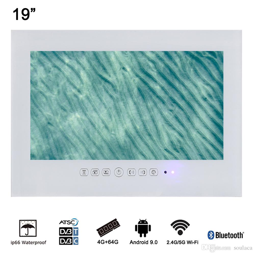 Soulaca 19 weiß Luxus Android Smart im Badezimmer Werbung LED-TV  Flachbildschirm wasserdicht Fernsehen (DVB-T / DVB-T2 / DVB-C / ATSC)