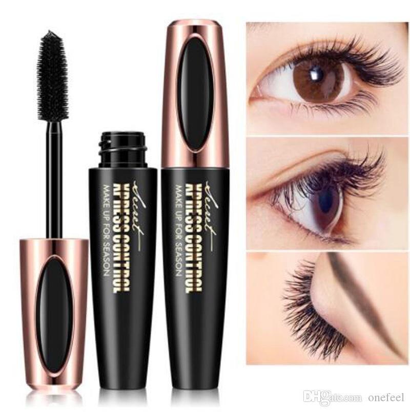 863b3c52c93 MACFEE New 4D Black Curling Mascara Silicone Brush Head Silk Fiber Waterproof  Mascara Thick Eyelash Cosmetics Makeup Beauty Makeup From Onefeel, ...