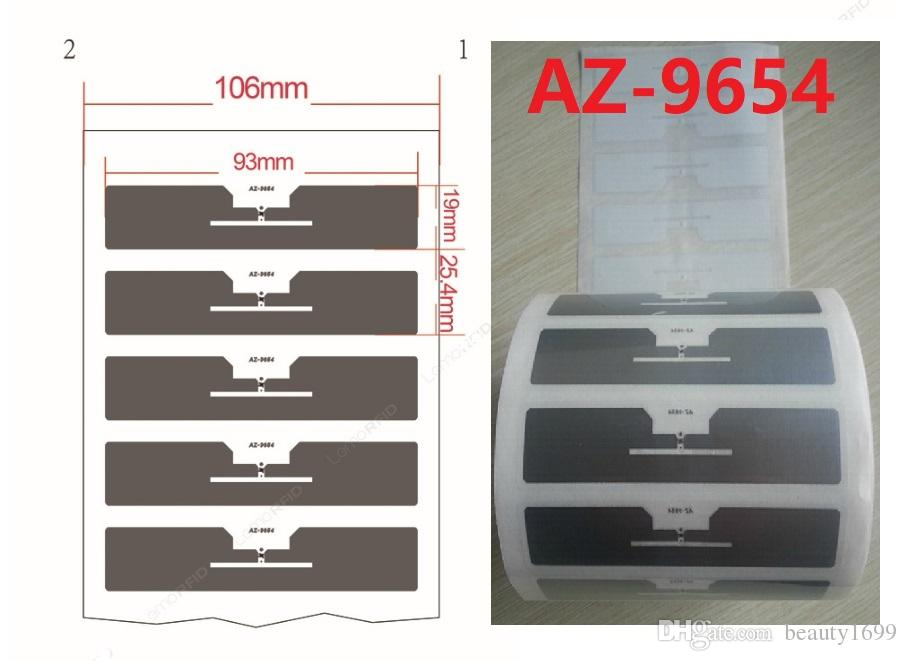 Alien Higgs3 9654 Wet/Dry Inlay UHF Windshield RFID Labels 860~960MHz EPC Global Class1 Gen2 dry inlay 93X19MM 1000pcs/lot DHL