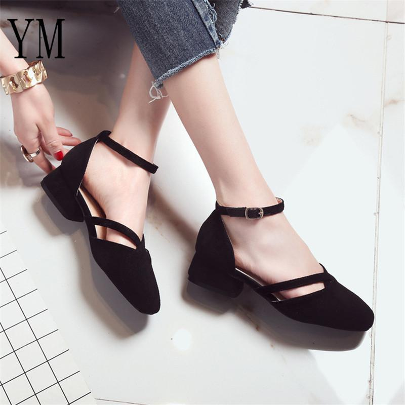 5f0356f0e 2019 Fashion Summer Women Shoes Square Toe Pumps Dress Shoes High Heels  Boat Shoes Wedding Tenis Feminino Side With 34 39 Mens Dress Boots Men  Sandals From ...