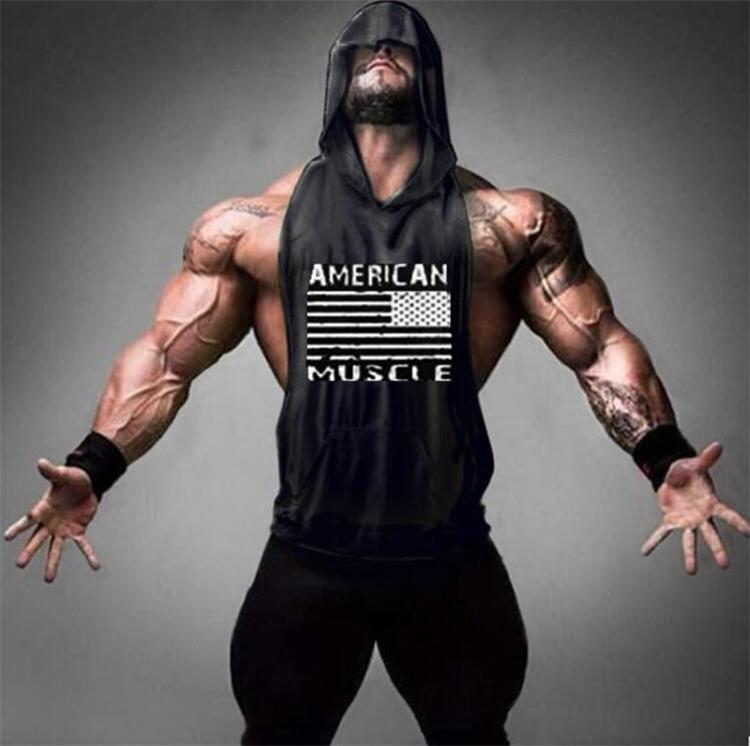 e32a4fd640571a New American Flag Print Bodybuilding Stringer Hoodies Sporting Fitness  Brand Tank Top Men Gyms Clothing Cotton Pullover Hoody Rude T Shirts Shirt  Online ...