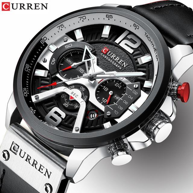 6886a5531a38 Compre 2019 Top Brand CURREN Moda Hombre Relojes De Cuero Impermeable Reloj  De Pulsera De Cuarzo Masculino Deporte Cronógrafo Relogio Masculino A   39.74 Del ...