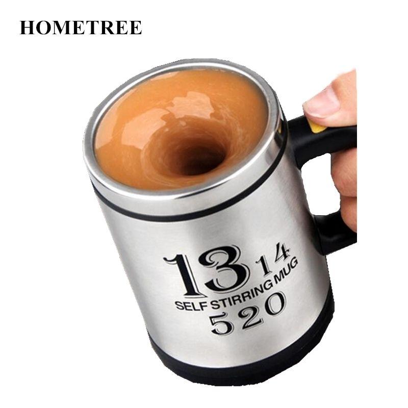 0f789b2d69b Hometree 400ml Creative Coffee Mug Automatic Electric Self Stirring Mug  Milk Mixing Mug Smart Stainless Steel Mix Cup Box H304 C19041302 Printed  Ceramic ...