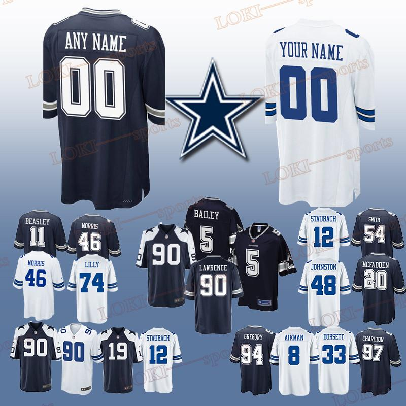 designer fashion 150fe 39a93 Dallas 33 Cowboys jerseys 46 Alfred Morris 74 Bob Lilly 11 Cole Beasley 20  Darren McFadden Can be customized jersey