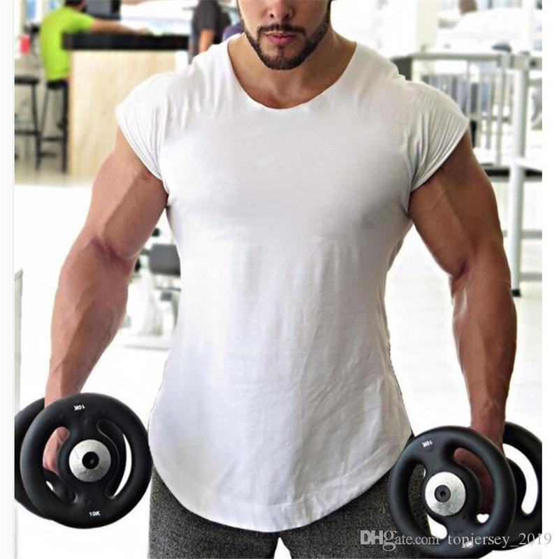 7cd9c11ab2aa8 2019 Brand Fitness Men Clothes 2018 New Golds Muscle Gorilla Solid Gyms Tank  Tops Hip Hop Vest Street Wear Crossfit Sleeveless Shirt  105748 From ...