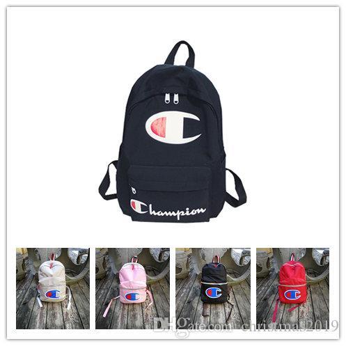 56d900824a 2019 Nylon Plain Japan Style Minimalism Best Backpack For Adolescent Girl  Champion Female New Travel Leisure Women Backpack Shoulder Bag Kids School  ...