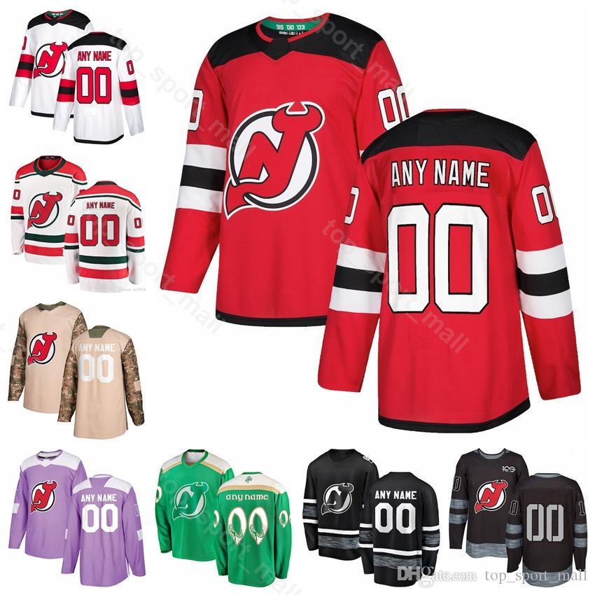 finest selection 59660 e854a Men Kids Women 21 Kyle Palmieri Jersey New Jersey Devils Hockey 19 Travis  Zajac 63 Jesper Bratt 28 Damon Severson St Patricks Day