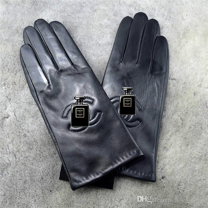 Europe And The United States Winter Warm Sheepskin Gloves Ladies New