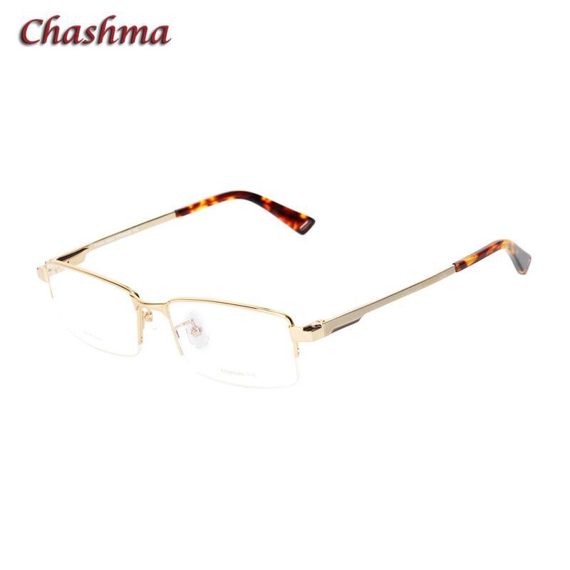 293cc2a4635 2019 Men Gold Optical Glasses Frame With Spring Hinge Top Quality Titanium  Eyeglass For Prescription Lenses No Nickol EU Eyewear From Weichengz
