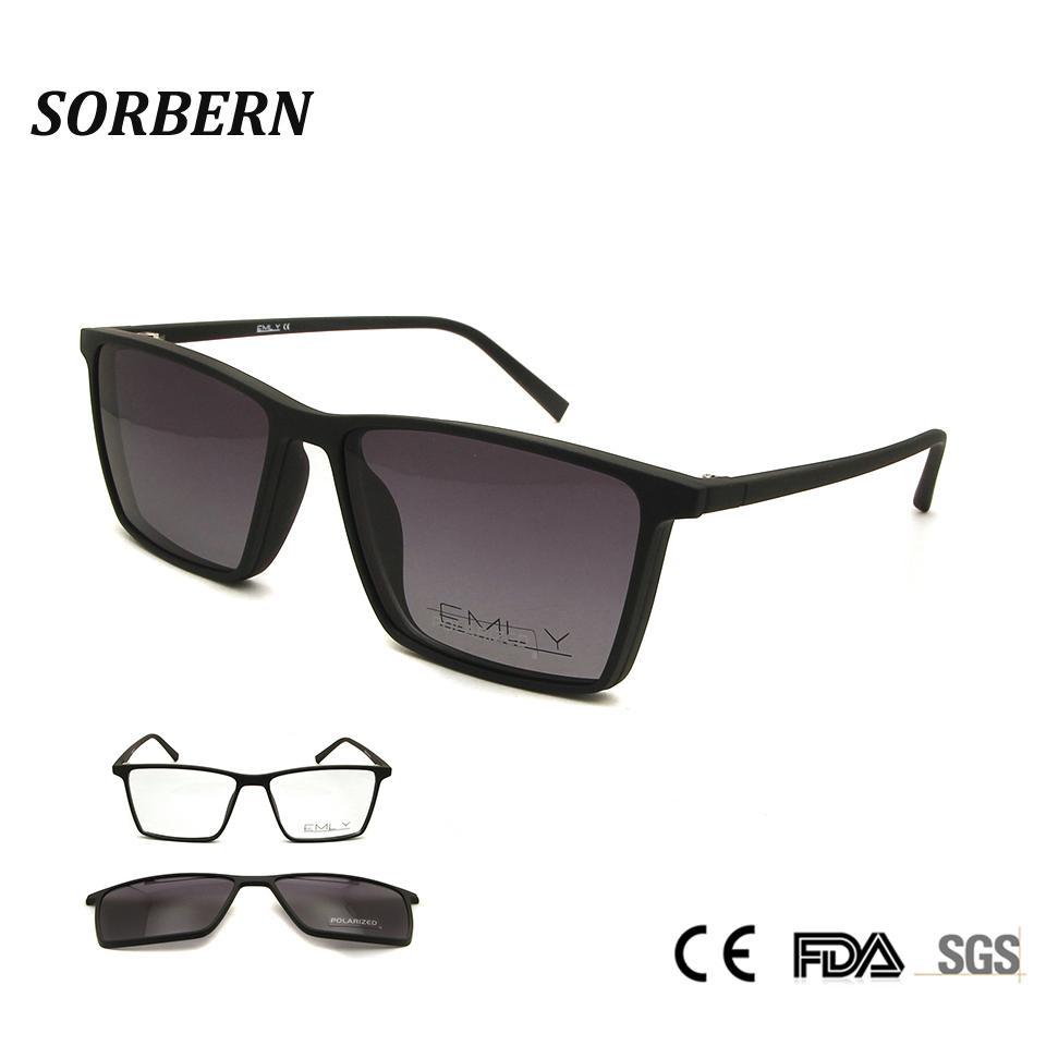 81e29c24c5d SORBERN Unisex Polarized Sunglasses Magnetic Clip On Glasses TR90  Ultralight Frames Women Men Drive Goggles Myopia Eyewear Glasses Frames  Glasses Online ...