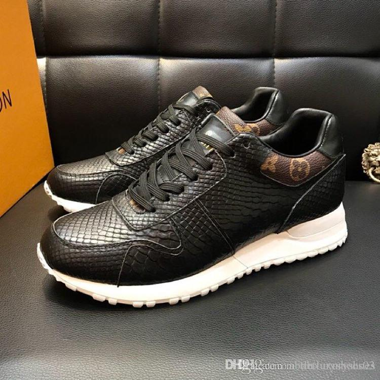 pretty nice 96268 2b171 RUN AWAY SNEAKER Men Shoes Sports L0UIS Footwear Chaussures pour hommes  Luxury Brand Athletic Trainers Winter Sport Sneakers Breathable Sale