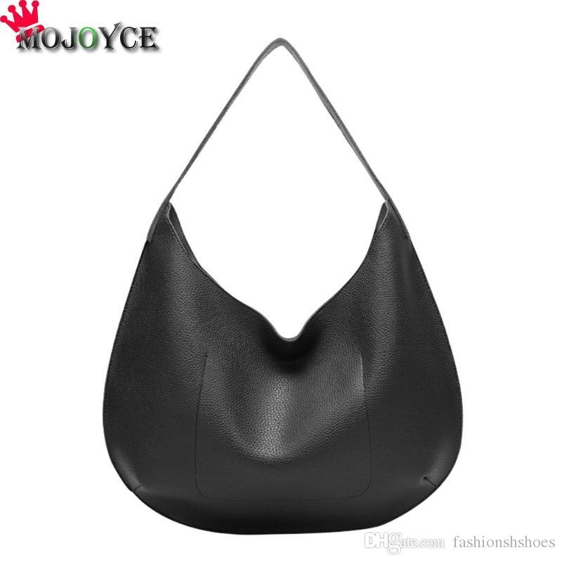 2abaa15f06 Solid Color PU Leather Women Handbags Elelegant Laides Hobos Shoulder Bag  Female Top Handle Totes Bags Bolsa Feminina #287104 Shoulder Bags For Women  Hobo ...