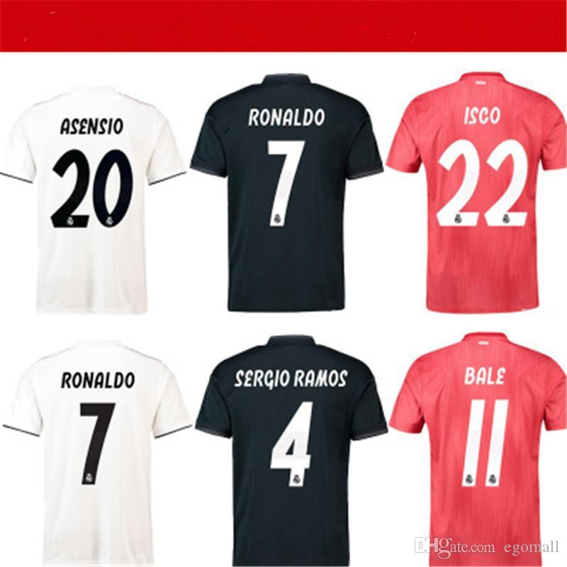 quality design 1a428 020b6 S-3XL jerseys Real madrid 2018 2019 soccer jersey MODRIC MARIANO ASENSIO  VINICIUS JR football shirt BALE RAMOS Camiseta 18 19 ISCO maillot