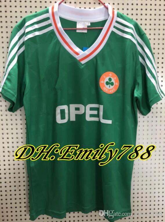 e7376dfe7 2019 1990 1992 Ireland Retro Soccer Jersey 1990 World Cup Ireland Home  Classic Jersey 90 92 Vintage Irish Sheedy Size S XXL Football Shirts From  Emily788