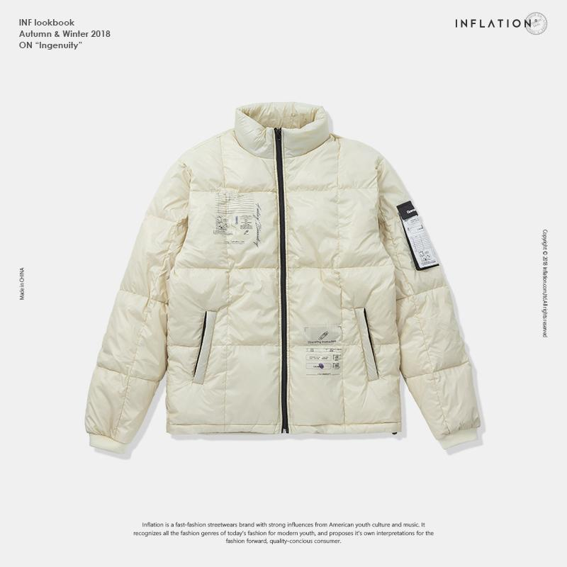 21d39aa49e5 2019 INFLATION White Duck Thick Down Jacket Men Coat Snow Parkas Male Warm  Brand Clothing Winter Down Jacket Urban Outerwear 81129W From Cety, ...