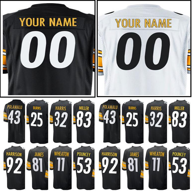 927d6bb5c Cheap Men s Pittsburgh Custom Steeler 36 Jerome Bettis 11 Markus Wheaton 10  Martavis Bryant Jersey 53 Maurkice Pouncey 24 Ike Taylor Jerseys