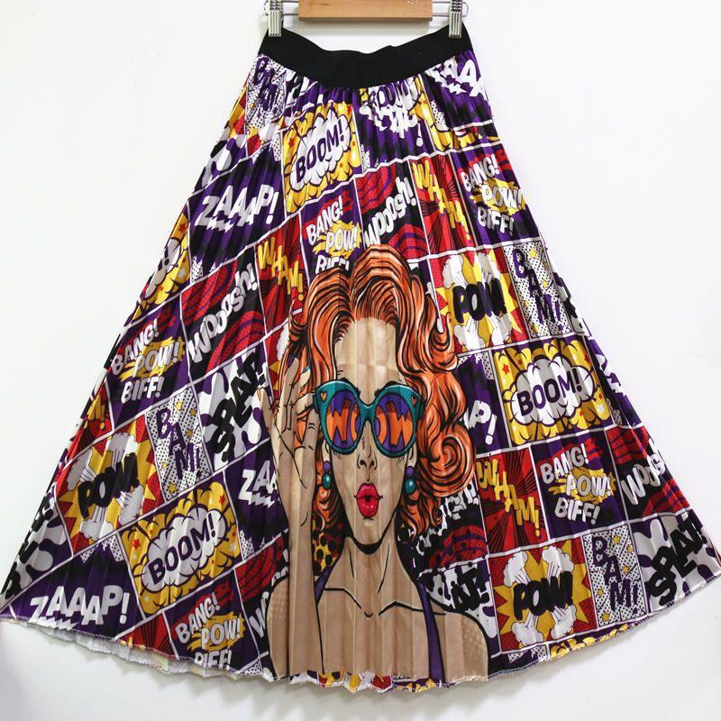 e31ab85b45027 Amazon Explosive Money 2019 Spring New Summer Money Trend Women s Clothes  Printing A Word Skirtb