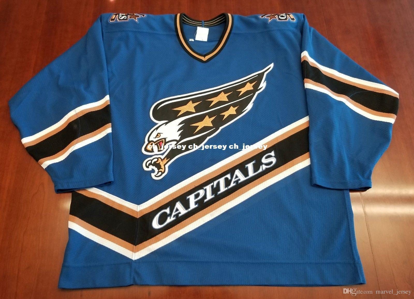 quality design bd348 c76f1 Cheap custom Washington Capitals Vintage CCM Center Ice Jersey Screaming  Eagle Stitched Retro Hockey Jersey Customize any name number XS-5XL