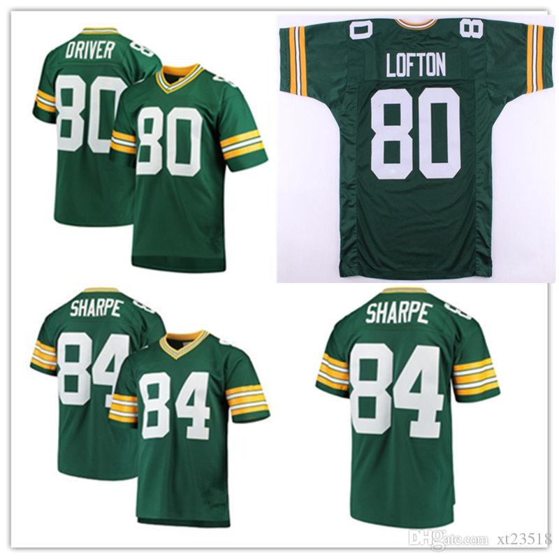 new products 19020 993f9 Mens #80 Donald Driver Vintage Football Jersey Stitched Green #80 james  lofton #84 Sterling Sharpe Jersey S-3XL