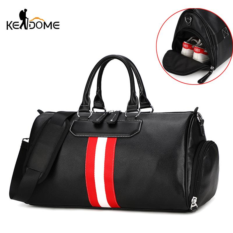 7a8d5887e5 2019 New Men S Gym Bags Large Capacity PU Leather Sports Bag Fitness Sport  Bags Travel Shoulder Handbag Male Bag Sac De Sport XA986WD From Youtuo