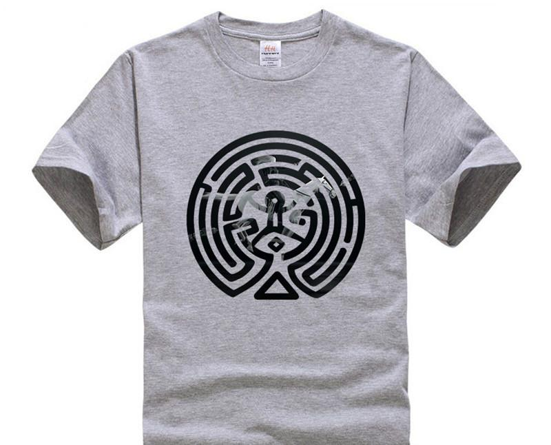 Hanhent 2019 New Westworld Maze Printed T Shirts Men Short Sleeve O Neck Cotton West World Dolores Men Fashion T Shirt Tv Tees