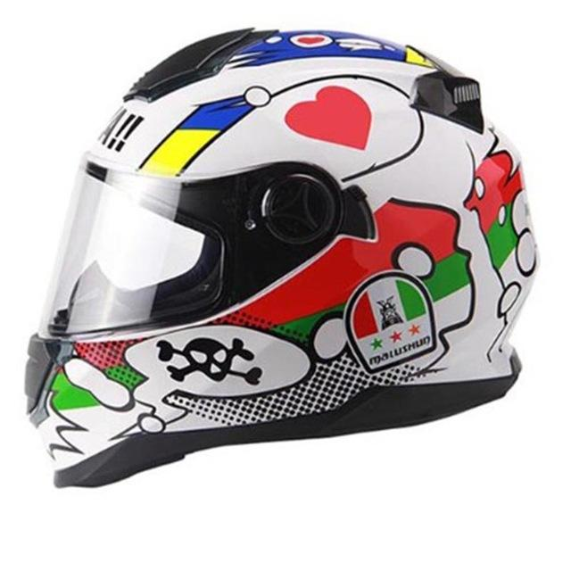 Professionnel Double Moto Malushun Acheter Objectif Casque 2018 BYwAa