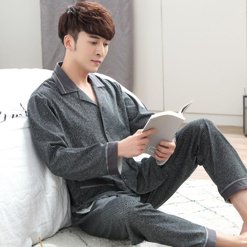 8c7d7d48343ee Satın Al JQ Yeni Erkek Pijama Set Erkekler Pijama Erkek Heren Pijama Katı  Pamuk Pijama Kaliteli Marka Pijamas Klas Ev Giyim, $52.44   DHgate.Com'da