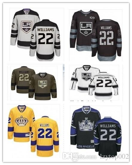 top can Los Angeles Kings Jerseys # 22 Tiger Williams Jersey men#WOMEN#YOUTH#Baseball Jersey Majestic Stitched Professional sportswear