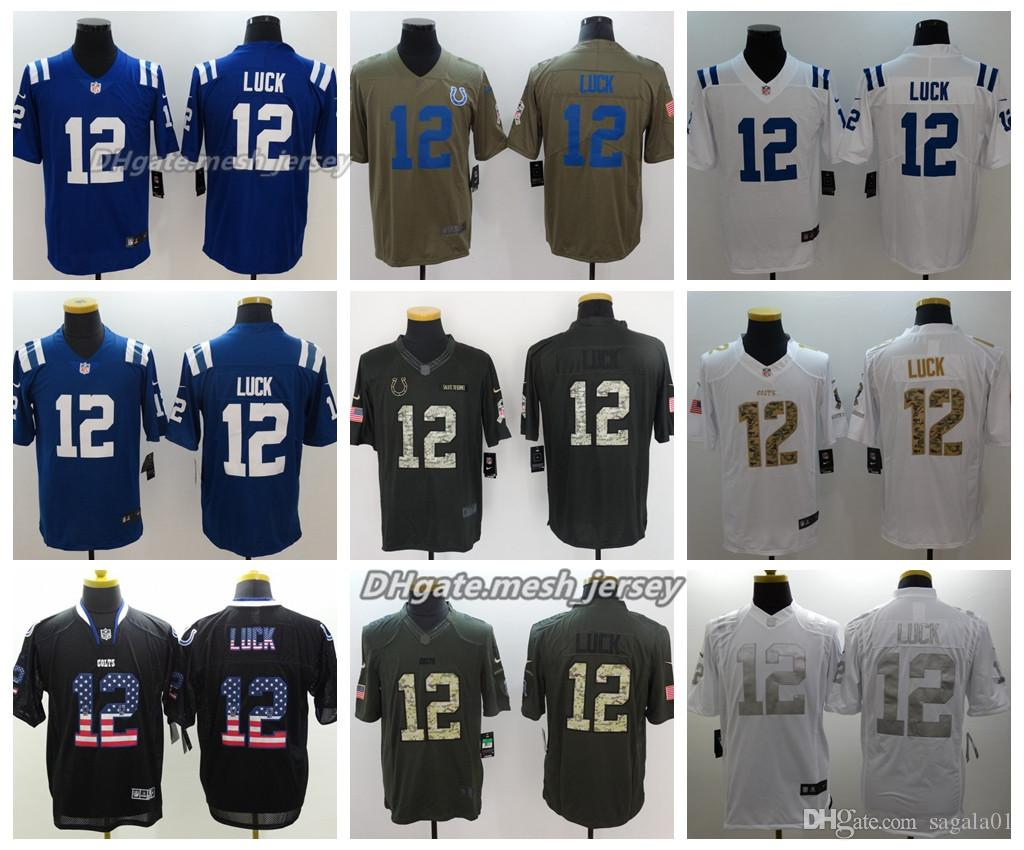 bfb392937 2018 Men Indianapolis Jersey Colts 12 Andrew Luck Color Rush ...