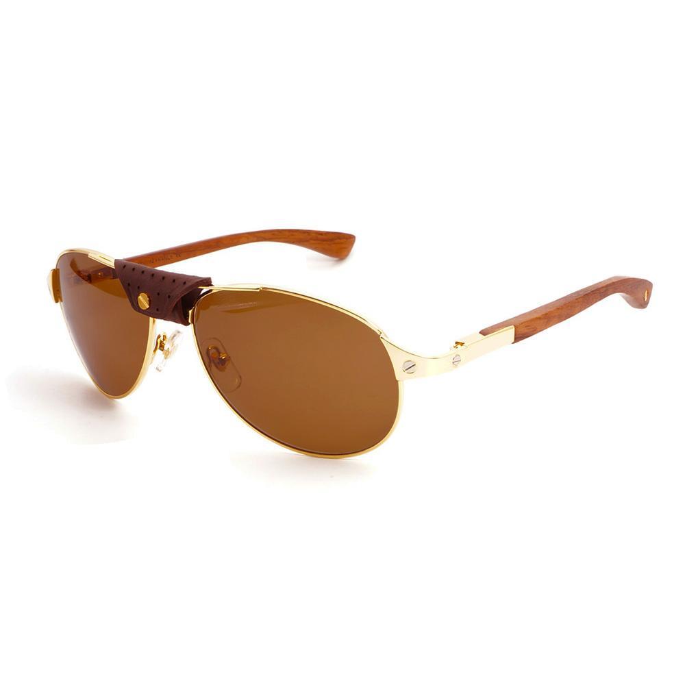 661796df17 Compre Gafas De Sol Al Por Mayor De Madera Fresca Para Hombres Gafas De Sol  Para Conducir Playa Retro Marco De Gafas De Santos Para Exteriores A $76.15  Del ...