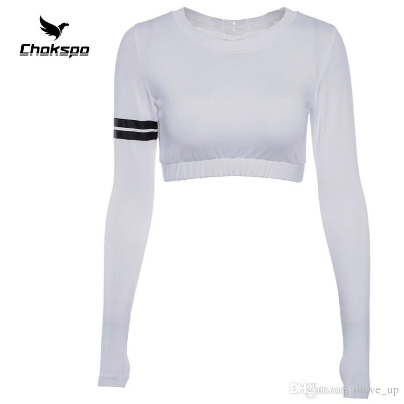 85230354c725 2019 Yoga Shirt Round Collar Women Sportswear Europe And America Printing  Full Sleeves Gym Top Sport Wear Women For Running Fitness #213381 From  Move_up, ...