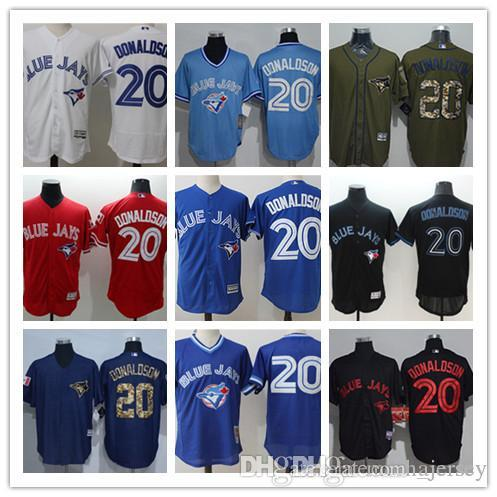 2019 Hot Custom Men Women Youth Blue Jays Jersey  20 Josh Donaldson Home  Blue White Baseball Jerseys From Ajersey 29815cd8fb