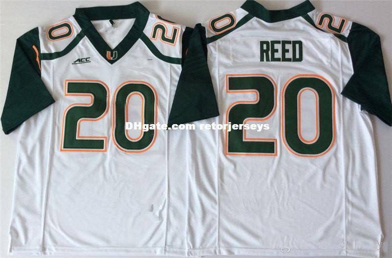 new style 5ee8d c6f83 Mens Miami Hurricanes #26 Sean Taylor College Football Jersey Embroidery  White Green Orange #20 Ed Reed Miami Hurricanes Jerseys S-3XL