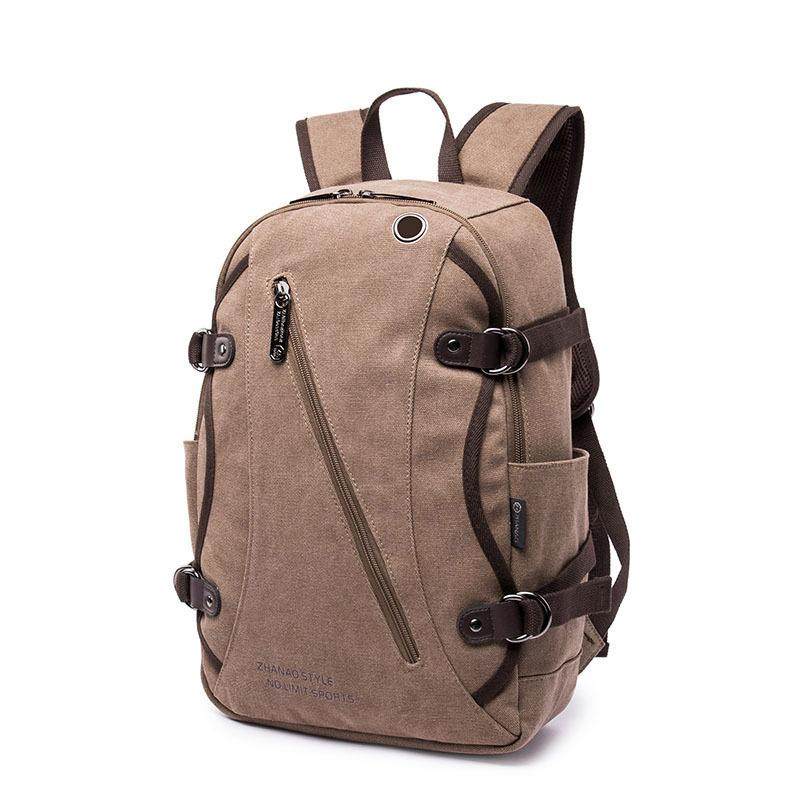f99c73c89aef Fashion Design Laptop Canvas Backpack Men Vintage Book Bags For School  Backpack Teenagers Casual Rucksack Daypack Travel Swiss Gear Backpack Osprey  ...