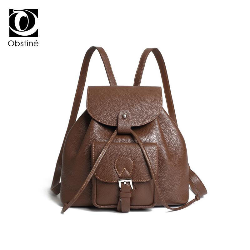 503180839362 Genuine Leather Backpack Women Mini Backpacks For Women Real Leather  Bagpack Bag Japanese Female Back Pack Vintage Daypack Girls Camping Backpack  Backpacks ...